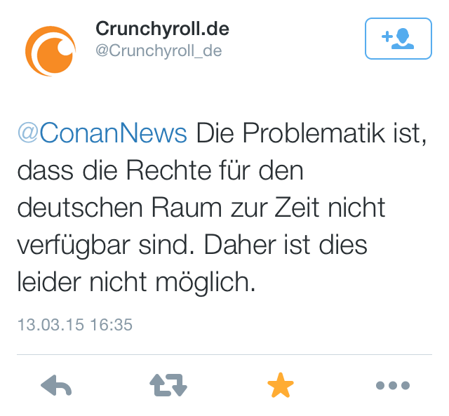 @Crunchyroll_de antwortet @ConanNews
