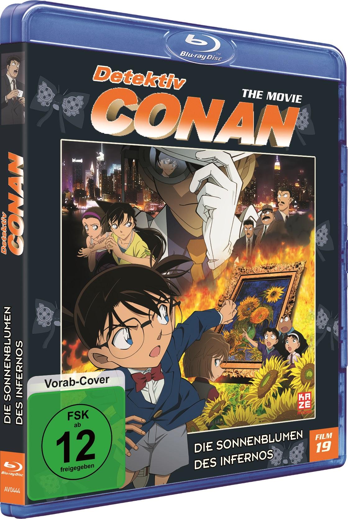 Detektiv Conan 19 Film Die Sonnenblumen des Infernos Blu-ray Vorab-Cover