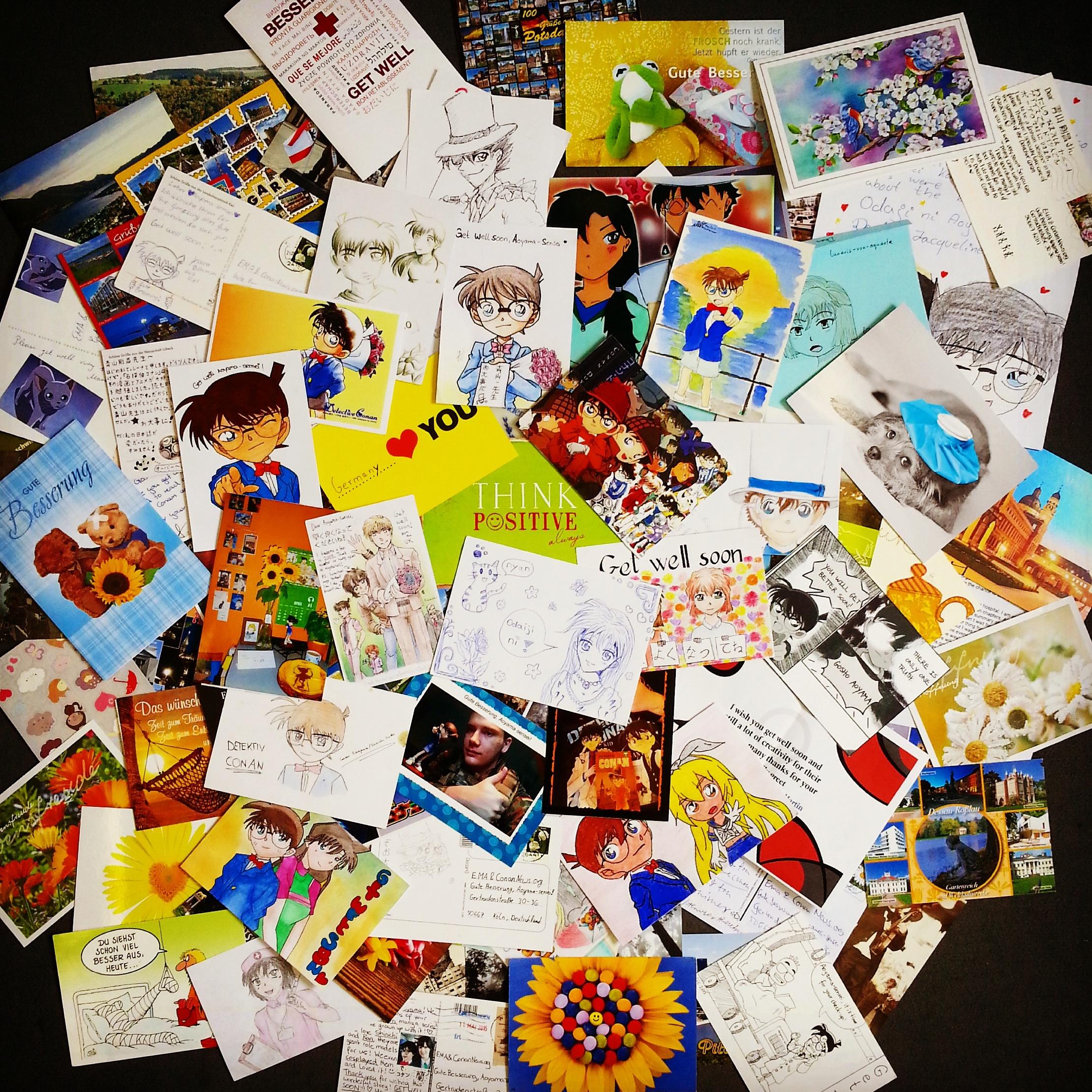 """Briefe Nach Japan Kosten : """"gute besserung aoyama sensei """" eure briefe und"""